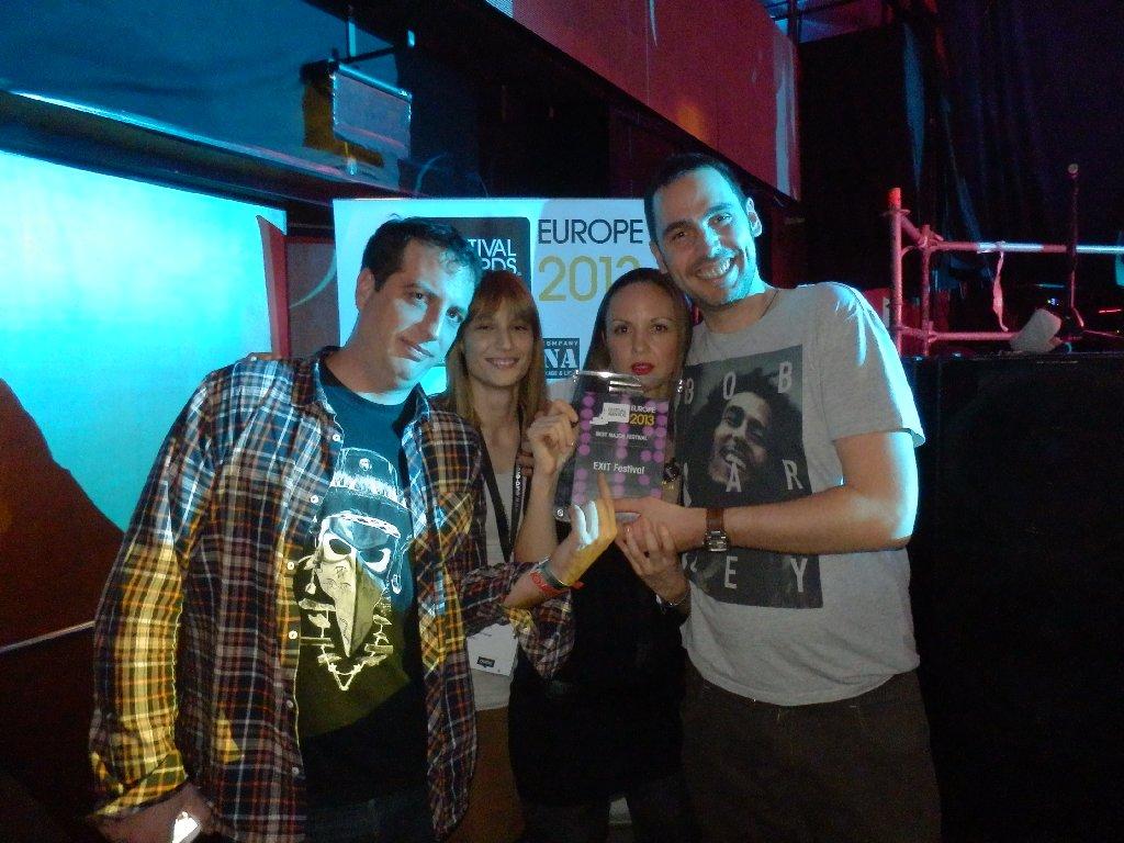 Ekipa EXIT festivala na nagradom