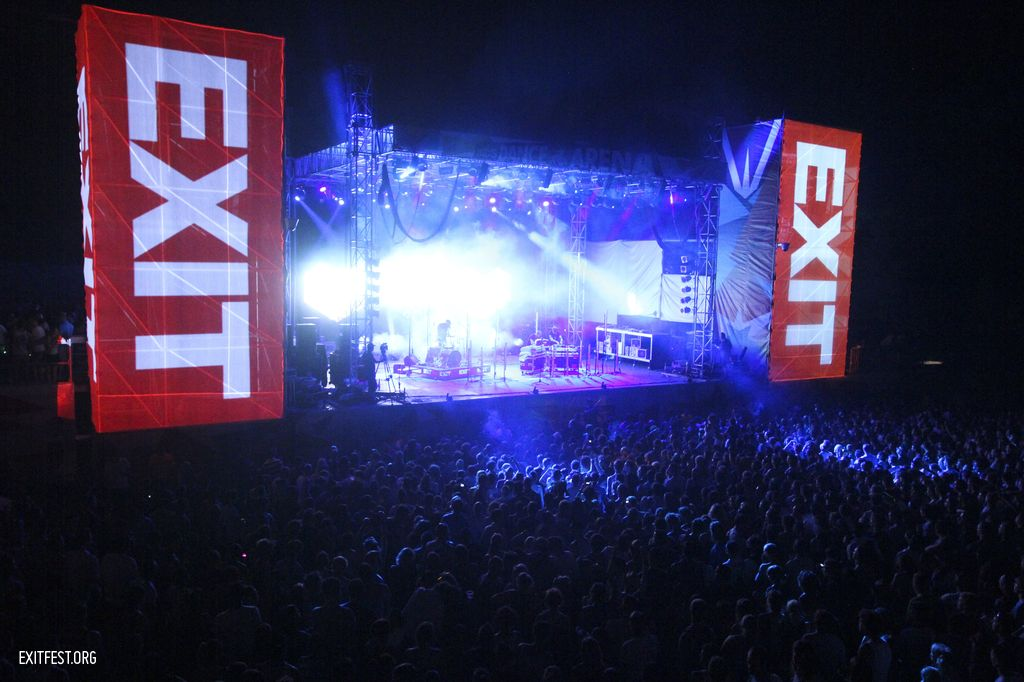 Dance Arena during Digitalism Live #EXIT2011