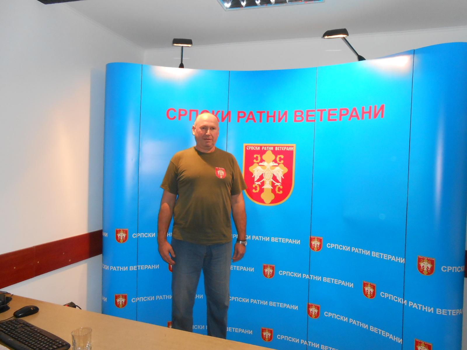 Predsednik Udruženja srpskih ratnih veterana Zrenjanin